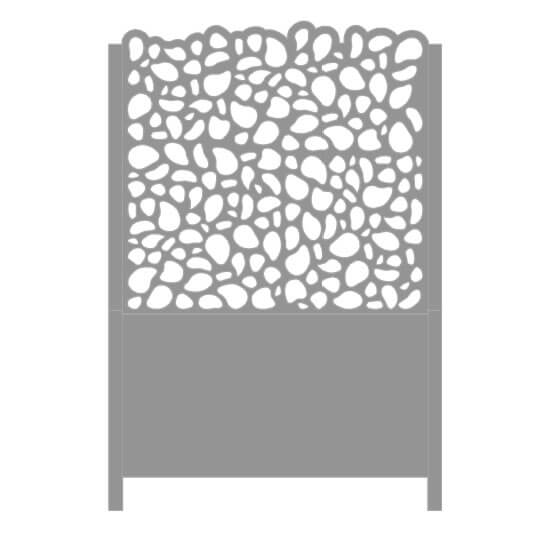 Bac à fleurs ajouré en alu Galet