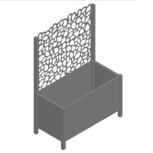 Bac à fleurs ajouré aluminium Galet