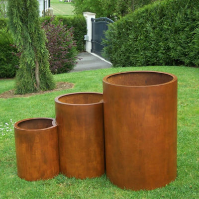 bacs acier corten pots corten. Black Bedroom Furniture Sets. Home Design Ideas