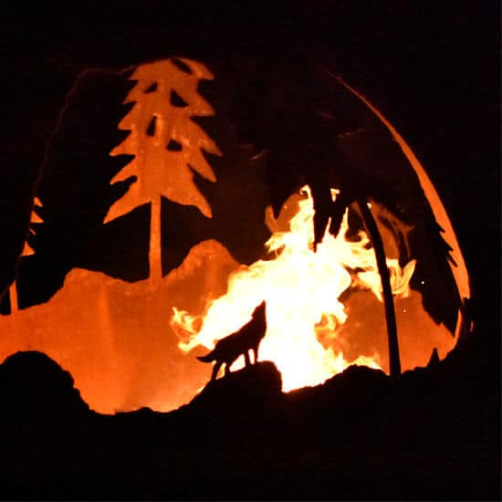 Braséro Animaux de la forêt en acier Corten