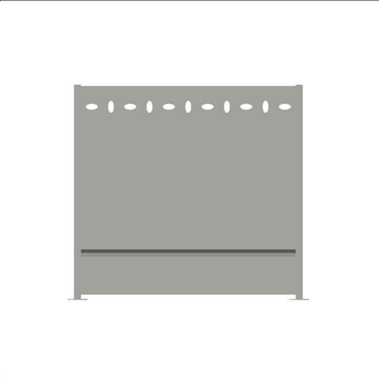 brise vue aluminium elipso ral7035 decometaldesign. Black Bedroom Furniture Sets. Home Design Ideas