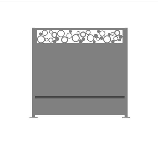 Claustra alu rondo gris2150 decometaldesign for Claustra alu prix