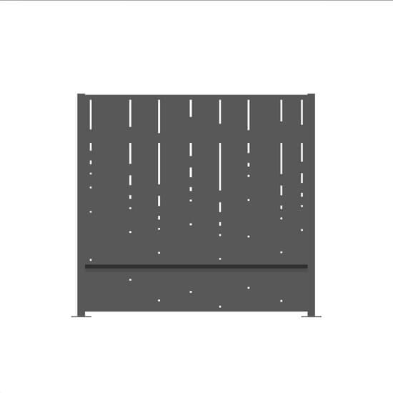 Claustra alu stalactite gris2400 decometaldesign for Claustra alu prix