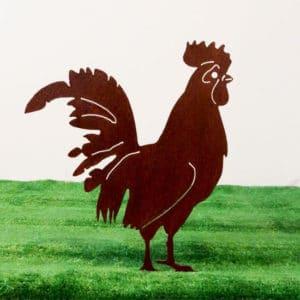 Décoration artisanale à piquer Coq