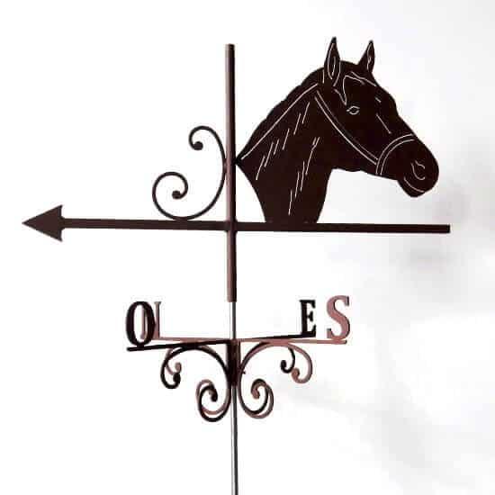 Fabrication artisanale girouette cheval