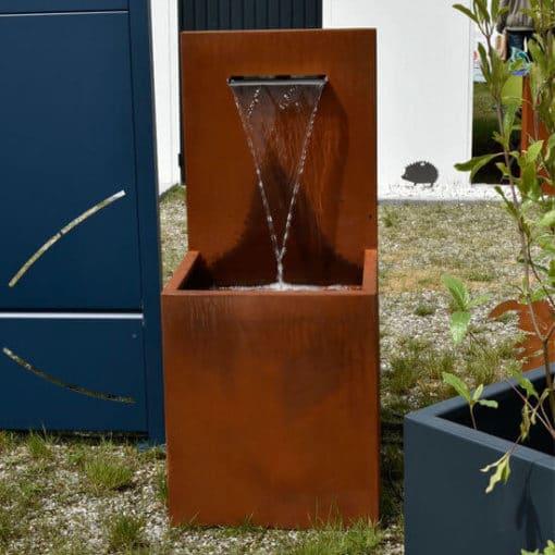 Fontaine jardin Corten lame d'eau