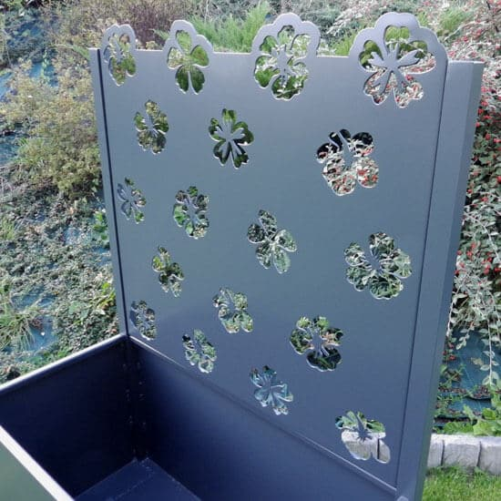 Jardinière ajourée fleurs en alu Hibiscus