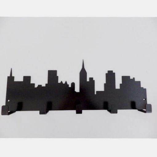 Porte-manteaux métal noir gratte-ciel New York