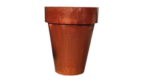 Pot conique en acier Corten