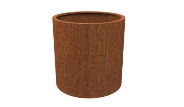 Pot rond en acier Corten