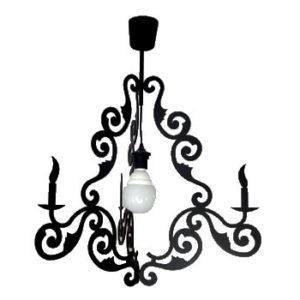 Luminaire métal noire baroque