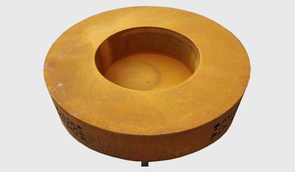Table de feu en acier Corten